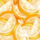 Ein nahtloser orange Frucht-Hintergrund Stockbilder