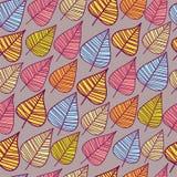 Ein nahtloses Muster mit Blatt. Stockfotografie