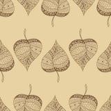 Ein nahtloses Muster mit Blatt, Herbstblatt Stockbild