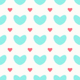 Ein nahtloses Muster mit den großen und kleinen Herzen lizenzfreie abbildung