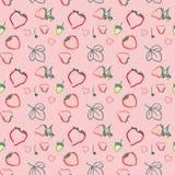Ein nahtloses Muster mit Erdbeere Lizenzfreie Stockfotografie