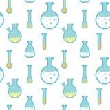 Ein nahtloses Muster mit runden flachen Flaschen Lizenzfreie Stockbilder