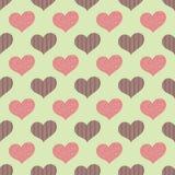 Ein nahtloses Muster mit sogar Herzen mit Mustern nach innen stock abbildung
