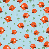 Ein nahtloses Muster mit Vögeln Lizenzfreie Stockbilder
