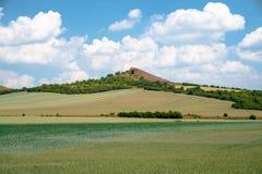 Ein natürlicher Hügel nahe Libochovice lizenzfreie stockfotos