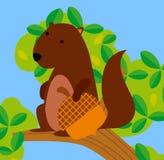 Ein nettes Eichhörnchen vektor abbildung