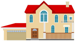 Ein nettes großes Haus realistisch stock abbildung