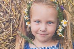 Ein nettes 3-Jahr-altes Mädchen mit ch Lizenzfreies Stockbild