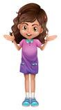 Ein nettes Schulmädchen mit hairclips Stockfoto