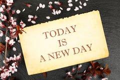 Ein neuer Tag Stockbild