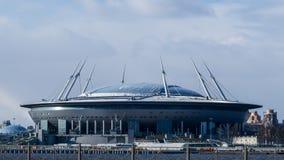 Ein neues Fußballstadion in St Petersburg stockfoto