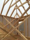 Ein neues Haus im Bau Lizenzfreie Stockfotografie