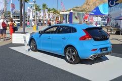 Ein neues Volvo-Elektroauto Stockbild