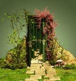Ein neugieriger Eingang stock abbildung