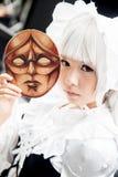 Ein nicht identifizierter japanischer Anime cosplay an der zentralen Welt in Thail lizenzfreies stockbild