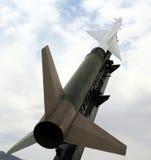 Ein Nike Ajax Flugkörper und eine Abschussrampe stockbilder