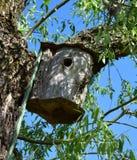 Ein Nistkasten, Vogelhaus Stockbild