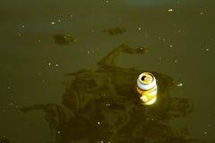Ein Nocken, der das Wasser beschmutzt Lizenzfreies Stockbild