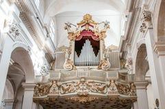 Ein Organ in einer Kirche in Dubrovnik, Kroatien Lizenzfreies Stockbild