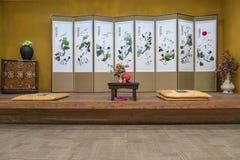 Ein orientalisches (koreanisch, japanisch, chinesisch) Artweinlese-Luxus livin lizenzfreie stockfotos