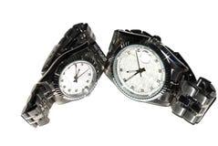 Ein Paar Armbanduhren Stockfotos