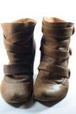 Ein Paar Brown-Stiefel stockfotografie