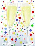 Ein paar Champagner Lizenzfreie Stockbilder