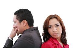 Paare, die einen Kampf haben Stockbild