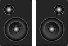 Ein Paar der Lautsprecherabbildung stock abbildung