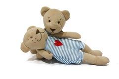 Ein Paar der liebevollen Bärnpuppe Stockfoto