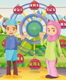 Ein Paar am Karneval Stockbild