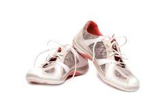 Ein Paar nagelneue laufende Schuhe Stockbilder