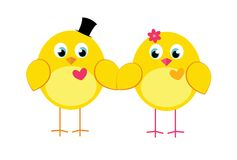 Ein paar nettes Huhn Lizenzfreies Stockbild