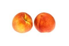 Ein Paar Pfirsiche Stockfotos