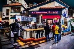 Ein Paar-Platz - Lotte World Adventure stockbild