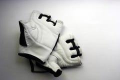 Ein Paar Sporthandschuhe auf einem weißen Hintergrund lizenzfreie stockbilder