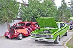 Ein Paar von Hotrods Stockbild