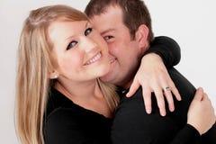 Ein Paarspielen lizenzfreie stockbilder