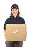 Ein Paket liefern zerbrechlich lizenzfreie stockfotos