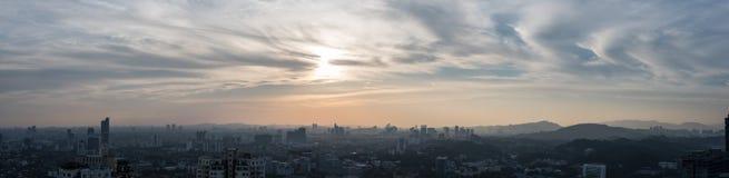 Ein Panorama des südlichen Teils von Kuala Lumpur-Stadt Lizenzfreie Stockfotos