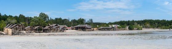Ein Panorama eines Strandes in Philippinen Stockfotos