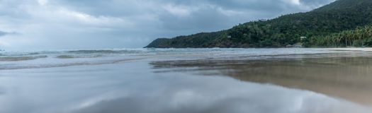 Ein Panoramablick eines Strandes in Philippinen Stockfoto