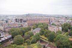 Ein Panoramablick von Edinburgh vom Schloss Lizenzfreies Stockfoto