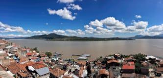 Ein Panoramablick von Janitzio-Insel Lizenzfreie Stockfotos