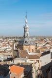 Ein Panoramablick zur spanischen Stadt Consuegra Lizenzfreies Stockfoto