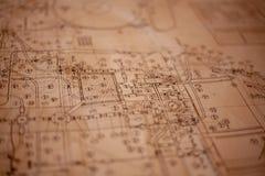 Ein Papierplan lizenzfreie stockfotografie
