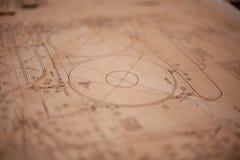 Ein Papierplan stockbilder
