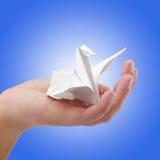 Ein Papiervogel Stockbild