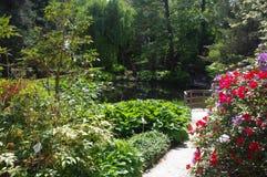 Ein Park mit Blumen Stockfotos