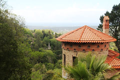 Ein Park am Moor Schloss-Hügel in Sintra, Portugal stockfoto